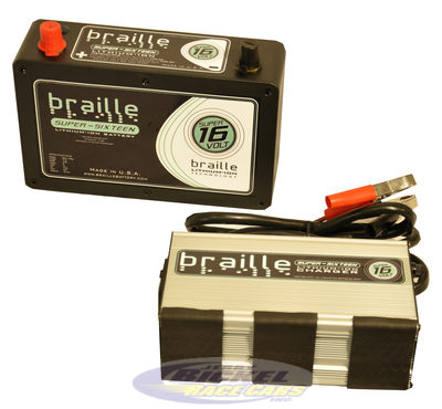 Braille Super 16 Volt Lithium Battery Combo B168LC-SD