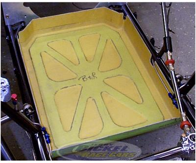 Engine Oil Containment Pan Carbon Fiber Diaper Nhra Accepted
