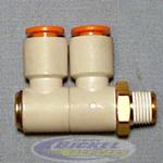 Double Swivel Elbow 90° 1/4NPT 3/8
