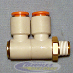 Double Swivel Elbow 90° 1/4NPT 1/4