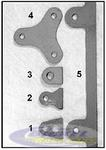 "#4 Plate 3/16"" Hole Window Mounting Tab"