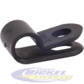 "1/4"" Black Nylon Cable Clamp"