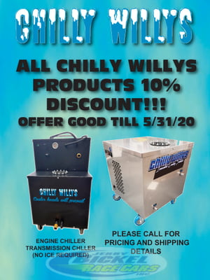 10% OFF ALL CHILLY WILLYS PRODUCTS