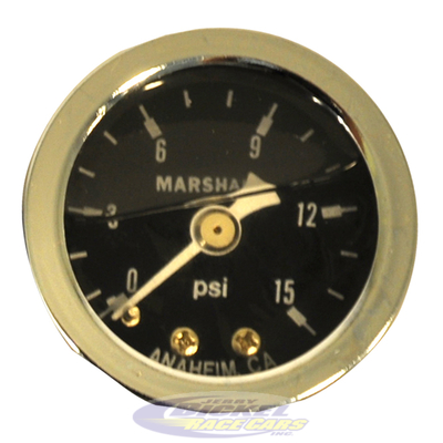15 psi Fuel Pressure Gauge (liquid filled)