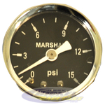 15 psi Fuel Pressure Gauge (dry)