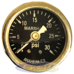 30 psi Fuel Pressure Gauge (liquid filled)