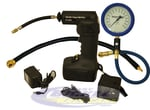 Tire Gauge - Air Compressor w/ Air Chuck Hose Combo